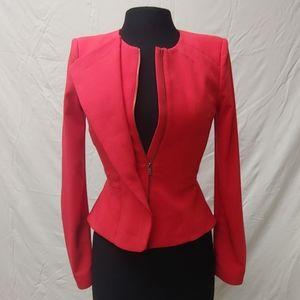 BCBG WOMENS XS Poppy/coral blazer